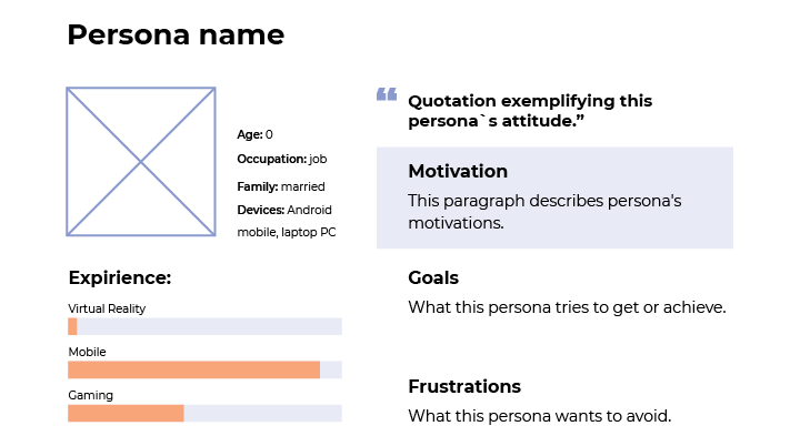 Design persona example