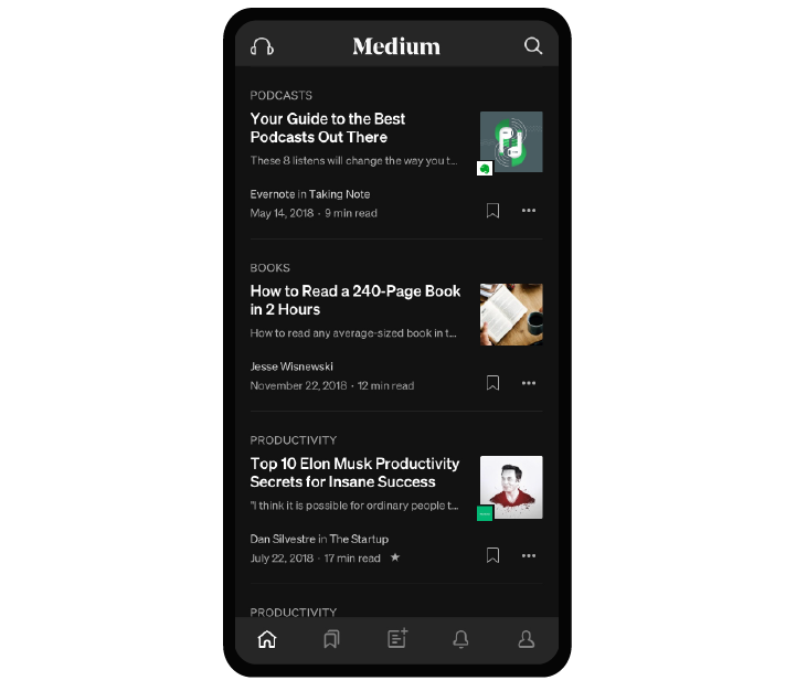 Medium mobile app