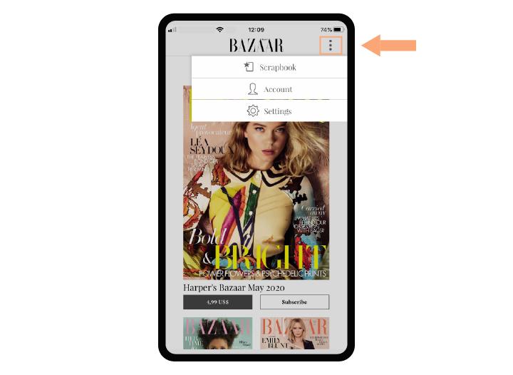 Harper's Bazaar on smartphones