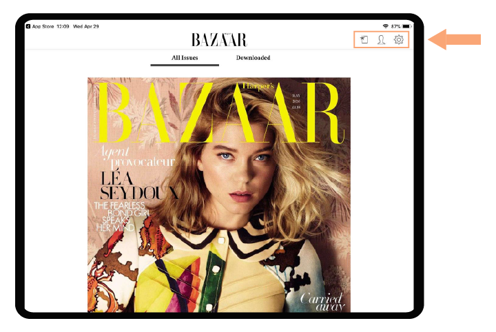 Harper's Bazaar on tablets