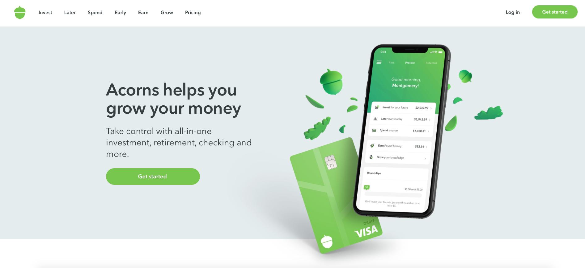 Acorns online banking