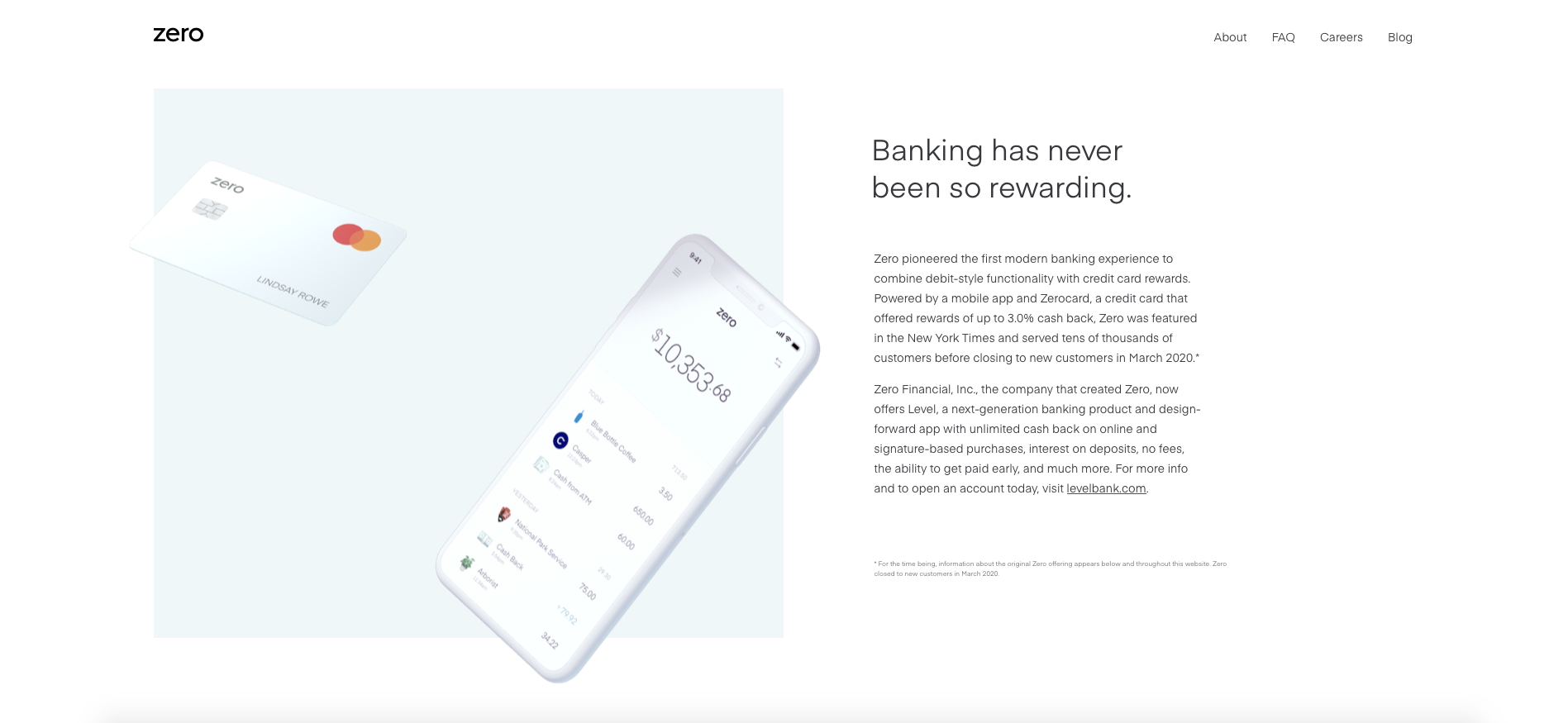 Zero online banking