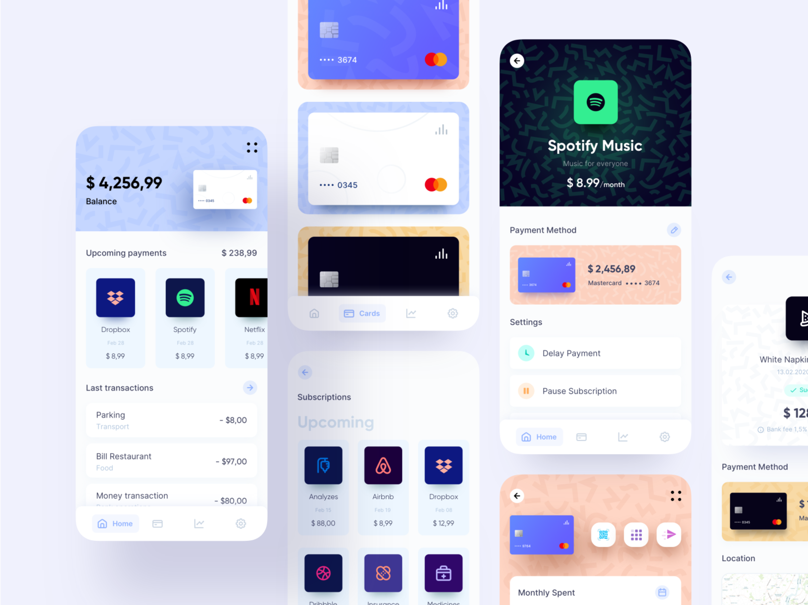 Banking app design idea by UGEM
