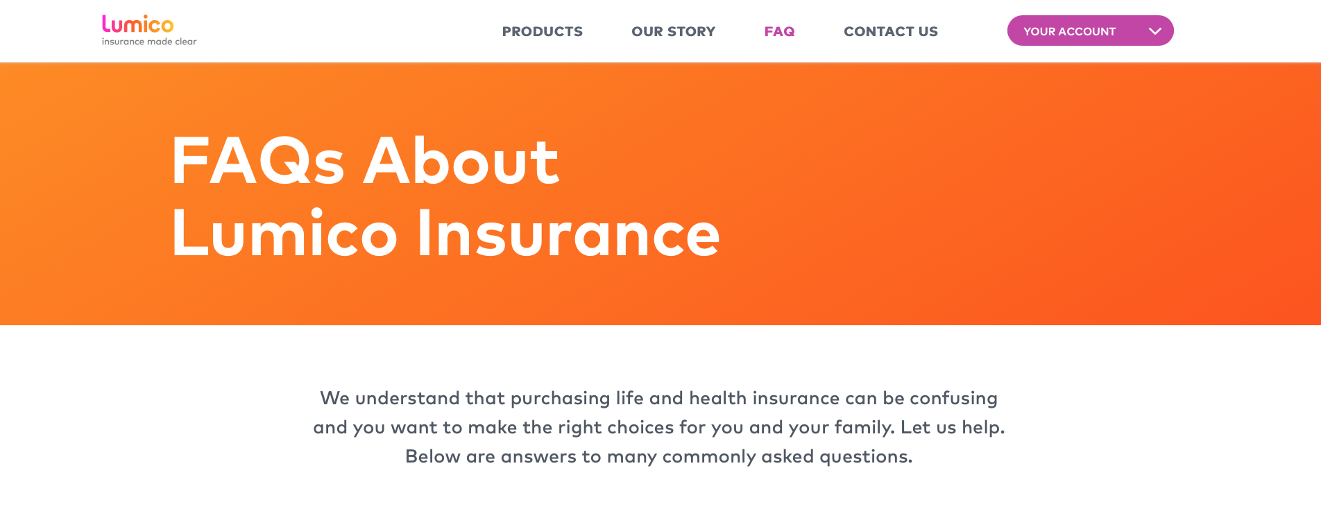 top insurance website design