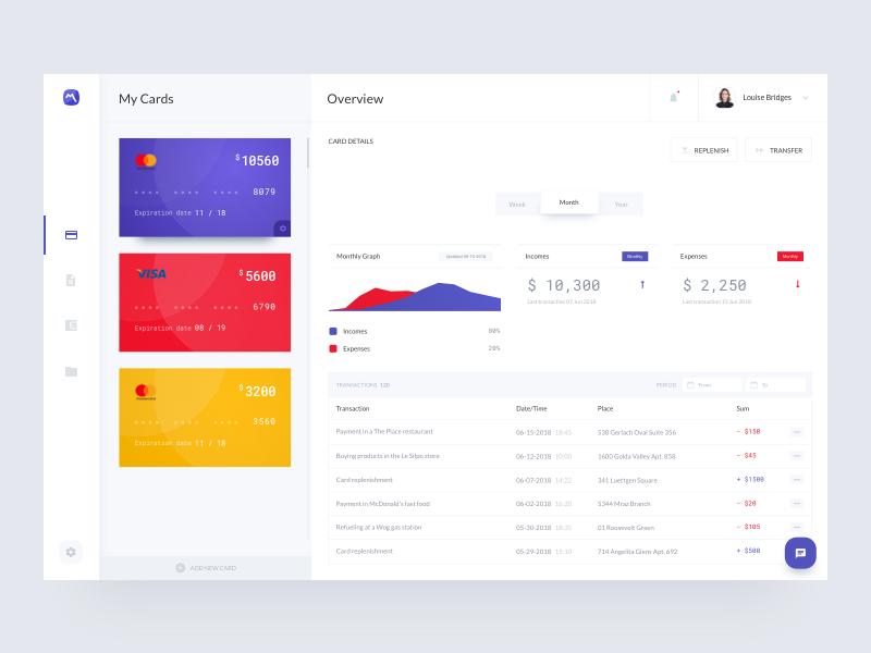banking app UI design