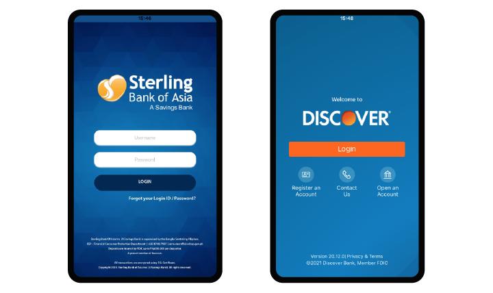 mobile banking app UI design